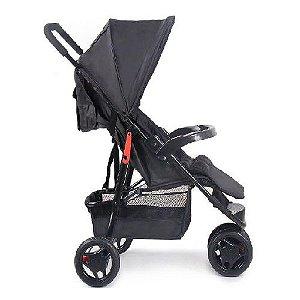 Carrinho Bebê Delta Voyage 3 Rodas 5 Pontos, 0 - 15kg, Preto