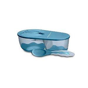 Prato Fundo Com Divisória Funny Meal Azul, Multikids Baby