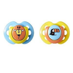 Chupeta Fun Style 0-6m, 2un, Azul e Amarelo, Tommee Tippee