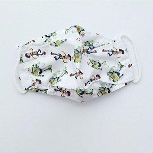 Máscara Infantil Branca, Tam P, Reutilizável, Baby Central