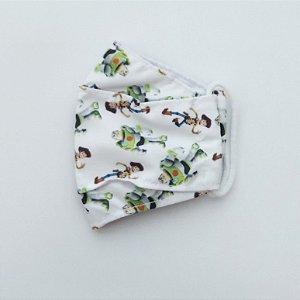Máscara Infantil Branca,Tam M, Reutilizável, Baby Central