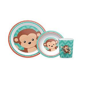 Kit Refeição Animal Fun Macaco, Buba