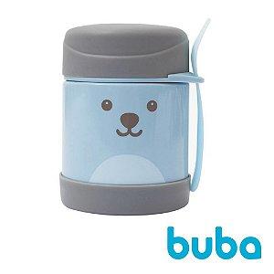 Pote Térmico Inox para Bebê com Colher, 320ml, Gumy, Azul