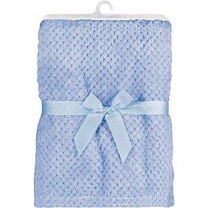 Mantinha para Bebê Soft Azul, 100% Poliéster, 3m+, Buba