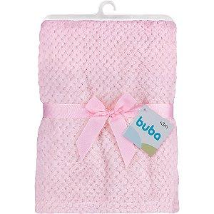 Mantinha para Bebê Soft Rosa, 100% Poliéster, 3m+, Buba