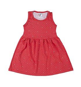 Vestido Kids Vermelho e Brinde Vestido de Boneca
