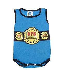 Body UFB Ultimate Fighting Baby Cor Azul Pega Legal