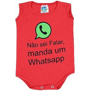 Body Não Sei Falar Manda Um Whatsapp Vermelho Pega Legal