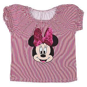 Blusa Minnie Menina Vermelha Listrada Cativa CT-D30774-4797
