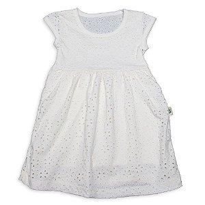 Vestido Infantil Menina Creme Malha Laise Andritex