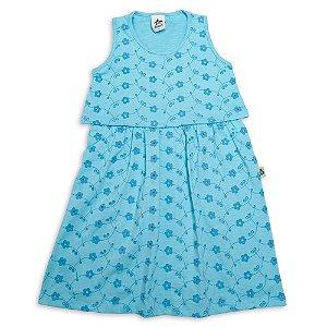 Vestido Infantil Menina Azul Claro Malha Laise Andritex