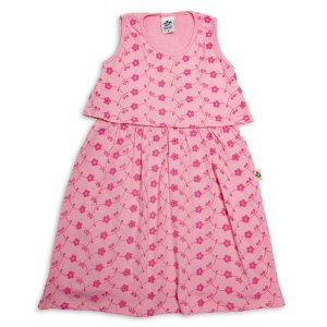 Vestido Infantil Menina Rosa Claro Malha Laise Andritex