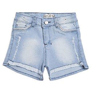 Shorts Jeans Menina Com Regulagem No Cós Lace Ri
