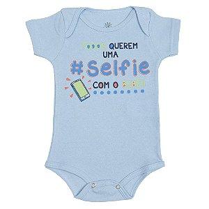 Body Azul Todos Querem Uma Selfie Com o Bebê Falakids