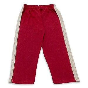 Calça Menina Malha Vermelha Cleomara