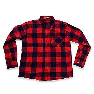 Camisa Flanela Manga Longa Menino 100% Algodão Mac Rose CM-0023-1 Tam 12 a 16
