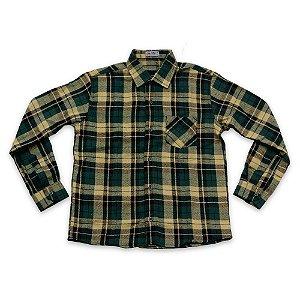 Camisa Flanela Manga Longa Menino 100% Algodão Mac Rose CM-0023-05 Tam 14 a 16