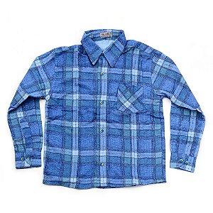 Camisa Flanela Manga Longa Menino 100% Algodão Mac Rose CM-0023-06 Tam 10 a 12