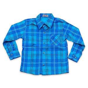 Camisa Flanela Manga Longa Menino 100% Algodão Mac Rose CM-0023-07 Tam 6 a 10
