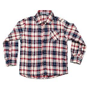 Camisa Flanela Manga Longa Menino 100% Algodão Mac Rose CM-0023-08 Tam 6 E 10