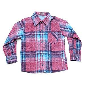 Camisa Flanela Manga Longa Menino 100% Algodão Mac Rose CM-0023-10 Tam 4-6-10