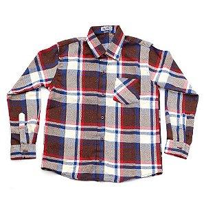 Camisa Flanela Manga Longa Menino 100% Algodão Mac Rose CM-0023-18 Tam 12