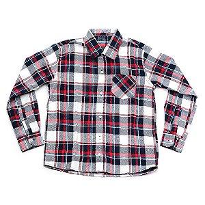 Camisa Flanela Manga Longa Menino 100% Algodão Mac Rose CM-0023-20 Tam12 a 16