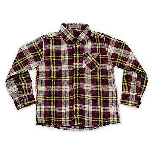 Camisa Flanela Manga Longa Menino 100% Algodão Mac Rose CM-0023-21 Tam 6 a 10
