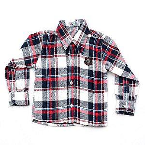 Camisa Flanela Manga Longa Menino 100% Algodão Mac Rose CM-0028-02 Tam 2 e 3
