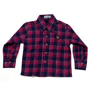 Camisa Flanela Manga Longa Menino 100% Algodão Mac Rose CM-0028-06 Tam 2