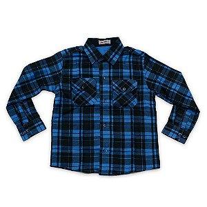 Camisa Flanela Manga Longa Menino 100% Algodão Mac Rose CM-0662-02 Tam 6 e 16
