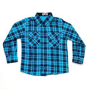 Camisa Flanela Manga Longa Menino 100% Algodão Mac Rose CM-0662-05 Tam 4 a 16