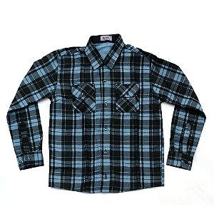 Camisa Flanela Manga Longa Menino 100% Algodão Mac Rose CM-0662-07 Tam 12 E 14