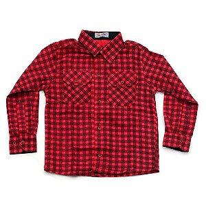 Camisa Flanela Manga Longa Menino 100% Algodão Mac Rose CM-0662-V Tam 4 a 16