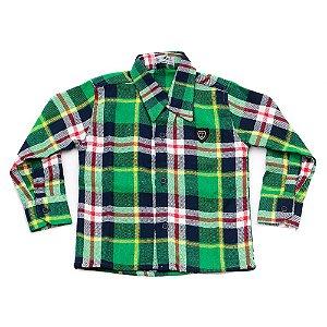 Camisa Flanela Manga Longa Menino 100% Algodão Mac Rose CM-0028-16 Tam 2