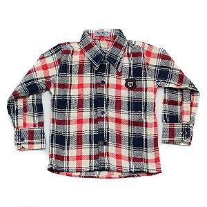 Camisa Flanela Manga Longa Menino 100% Algodão Mac Rose CM-0028-17 Tam 1