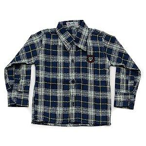 Camisa Flanela Manga Longa Menino 100% Algodão Mac Rose CM-0028-11 Tam 1