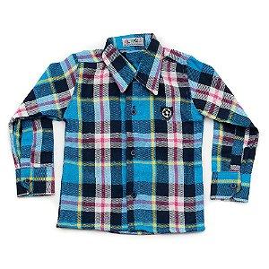 Camisa Flanela Manga Longa Menino 100% Algodão Mac Rose CM-0028-12 Tam 1