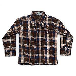 Camisa Flanela Manga Longa Menino 100% Algodão Mac Rose CM-0028-13 Tam 1