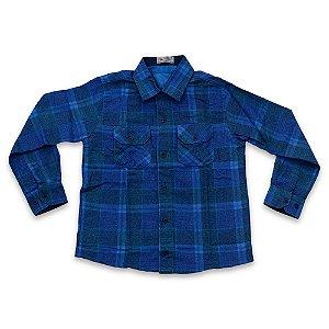 Camisa Flanela Manga Longa Menino 100% Algodão Mac Rose CM-0662-06 Tam 8 a 16