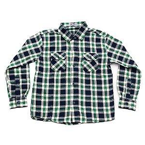 Camisa Flanela Manga Longa Menino 100% Algodão Mac Rose CM-0662-08 Tam 10