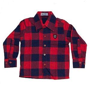 Camisa Flanela Manga Longa Menino 100% Algodão Mac Rose CM-0028-01 Tam 1 a 3