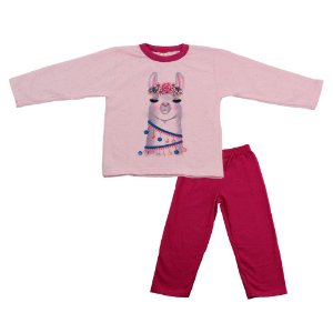 Conjunto Menina Blusa Rosa e Calça Pink Cleomara
