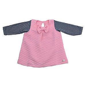 Vestido Baby Rosa em Matelasse Ralakids