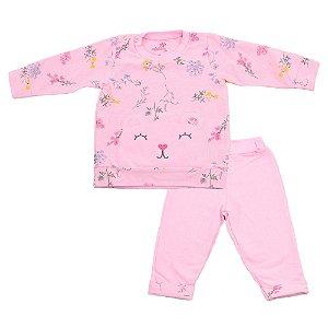 Conjunto Baby Menina Blusa e Calça Rosa Ralakids