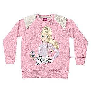 Casaco Barbie Rosa e Mescla Fakini