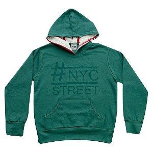 Casaco NYC Juvenil Menino Verde Didiene