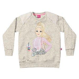 Casaco Barbie Cinza e Mescla Fakini