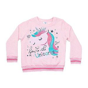 Casaco Kids Menina Unicórnio Rosa LX Textil