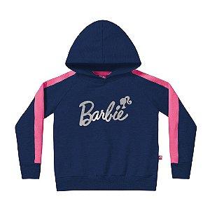 Casaco Barbie Infantil Azul Marinho Fakini